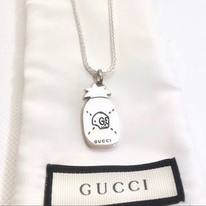"""New Gucci Ghost Pineapple Pendant + Free 18"""" Chain"""